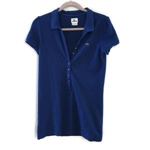 LACOSTE Royal Blue short sleeve polo dress